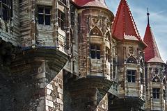 Dracula's castle.details 3 Stock Photos