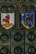 Dracula's castle. regalia on a terracotta Stock Photos