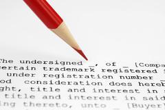 trademark assignment - stock photo