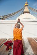 The shaman stupa pilgrimage Stock Photos