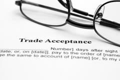 trade acceptance - stock photo