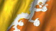Bhutan WAving Flag Stock Footage