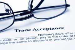 Trade acceptance Stock Photos
