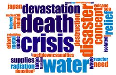 Crisis word cloud Stock Illustration