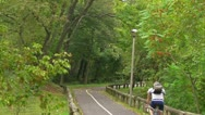 Bikers on the Autumn Trail Stock Footage