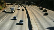 Cars Traffic Passing on Freeway Highway Stock Footage