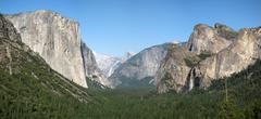 Yosemite National Park overview (27 megapixels) - stock photo