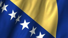 Bosnia & Herzegovina Waving Flag Stock Footage