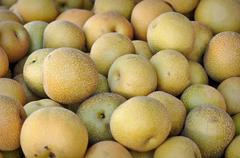 asian pears - stock photo