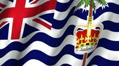 British Indian Ocean Waving Flag Stock Footage
