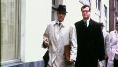 ENGLISH Businessmen Walking to Work London 60s Vintage Film Business Movie 4549 Stock Footage