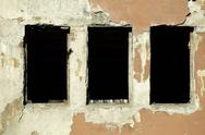 Stock Photo of very old building windows