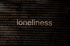 Stock Illustration of typed text loneliness on paper