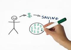 Stock Illustration of saving money conception illustration
