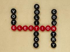 elections conception texts - stock photo