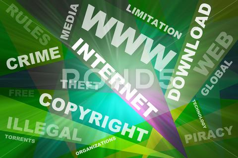 Stock Illustration of internet texts copyright conception