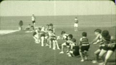 Kids BOYS PLAY TUG O WAR Rope Game Children 1920s Vintage Film Home Movie 4552 Stock Footage