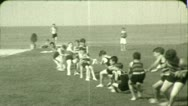 Stock Video Footage of Kids BOYS PLAY TUG O WAR Rope Game Children 1920s Vintage Film Home Movie 4552