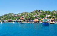 Beautiful bay in Mediterranean sea. Stock Photos