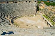 Greek-Roman amphitheater. Turkey. Stock Photos