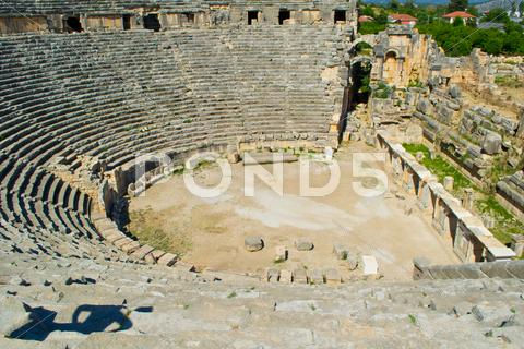 Stock photo of Greek-Roman amphitheater. Turkey.
