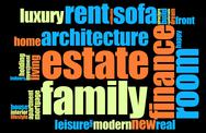 Stock Illustration of home word cloud