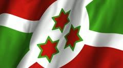 Burundi Waving Flag Stock Footage