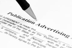 Publication advertising Stock Photos