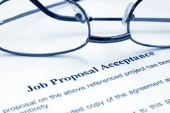 job proposal acceptance - stock photo