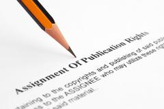 publication rights - stock photo