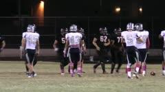 High School Football Night Game ED Stock Footage