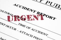 accident report - stock illustration