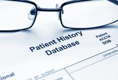 Patient history database Stock Photos