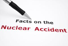 nuclear accident document - stock photo
