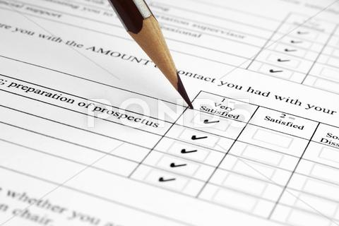 Stock photo of survey form