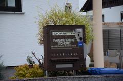 German Cigarette Vending Machine - stock photo