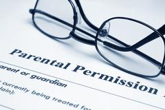 Parental permission form Stock Photos