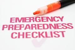 Emergency checklist Stock Photos