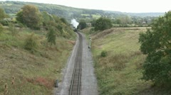 Vintage Steam Train on the Gloucestershire & Warwickshire Railway - stock footage