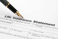 life insurance form - stock photo