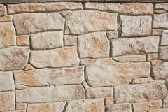Fieldstone background - stock photo