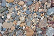Stock Photo of River pebbles background