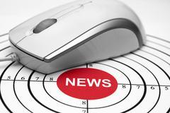 News target Stock Photos
