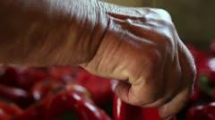 Roasted paprika (close up) _1 Stock Footage