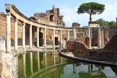 Villa Adriana near rome Stock Photos