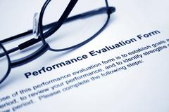 performance evaluation form - stock photo