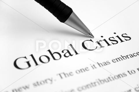 Stock photo of global crisis