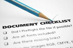 document checklist - stock photo