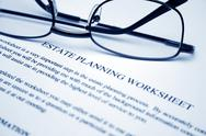 Stock Photo of estate planning worksheet