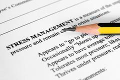 Stock Photo of stress management